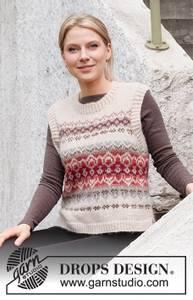 Bilde av Mistletoe Muse Vest by DROPS Design